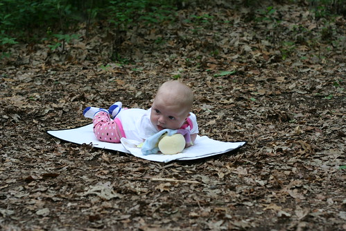 Tummy time in camp