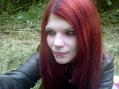 Outdoors (Saccharin Sweetheart) Tags: sarah female piercings