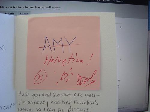 douglas coupland autograph for helvetica!