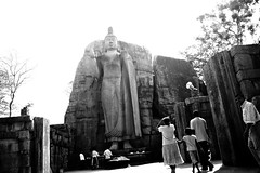 LIFELESS MOTION  (Humans & Elephants) Tags: life street bw white black art statue photography death freedom photo buddha buddhist sri lanka journey mm 18 55 rebirth six kandy d60 polonnaruwa betweens aukana matale aravinda rathnyake
