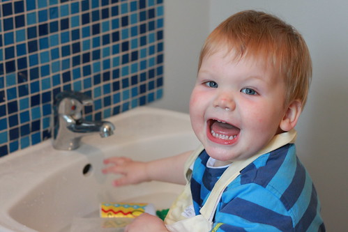 Playing in Sink (5)