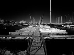 Rush Creek Lush 30 (SleepLab) Tags: shadow sky blackandwhite bw lake skyline digital landscape ir boats boat blackwhite dock nikon day texas shadows yacht dream spooky filter fantasy coolpix infrared dreamy yachts p90 redfilter hoya r72 infraredfilter rayhubbard infraredlense