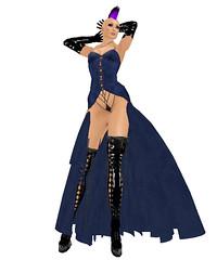 PASARELLA'S DIABOLIQUE DRESS - BLUE (laerke levenque) Tags: blue dress diabolique pasarellas