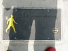 Never seen one of these before. I went to the website and it's not there any more. I did find out though, that these are the sites of the large map columns you see dotted around. (maggie jones.) Tags: shadow red man london yellow metal shoe pavement plate tfl legiblelondon