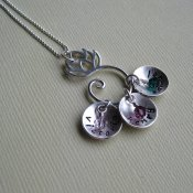 Family Garden Necklace- Lotus Flower