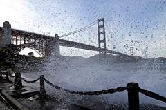 sneezed by the ocean under Golden Gate Bridge (hyfumc) Tags: ocean sanfrancisco california bridge angel canon bay nationalpark wide wave windy sunny ii goldengate area splash pacifica 1635mm