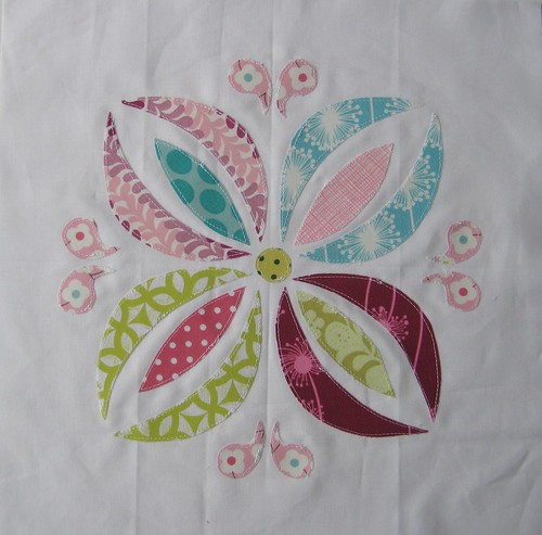 VIBees block for Tracey by Poppyprint