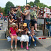 Musicians of all ages warming up on the TAUNY float before Saturday's Dairy Princess Weekend parade in Canton. Photo: Varick Chittenden.