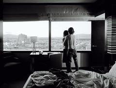 (andrew sea james) Tags: portrait blackandwhite bw selfportrait window monochrome landscape hotel nikon couple lasvegas anniversary nevada tokina f28 1116mm vdarra