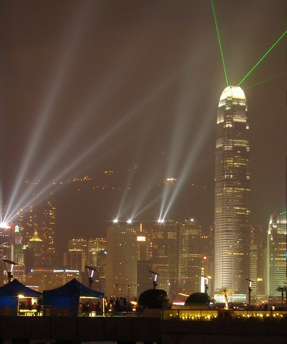 Espectáculo nocturno en el skyline