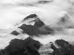 Mountains of Alaska (HBPhotography2010) Tags: winter blackandwhite bw snow mountains alaska landscape blackwhite glaciers wilderness ih potofgold naturesbeauty true2bw
