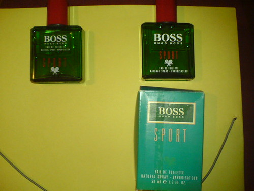 Hugo Boss Sport:different bottles,different boxes