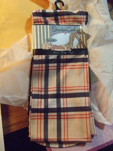 Plaid tights, Stocking Girl via eBay