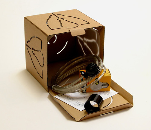 Not a Box, the cardboard lamp designed by David Graas