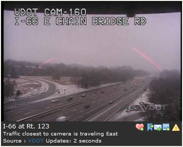Red Beams of Light from a Traffic Camera