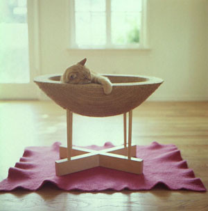 The modern kitty: Kittypod scratching post by Elizabeth Paige Smith