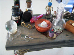 Inventor Alchemist Wizard's Work Table (Enchanticals ~I'm Coming Back) Tags: moon animals ink table skeleton spiral miniature experiments bottles handmade dam magic bat feathers science fantasy inventions collectible etsy magical enchantment curiosities dollhouse celestial alchemy dioramas potions spells crystalball wizards mids oneinchscale grimoires 112thscale etsyteam minimakers faeteam damteam teammids enchanticals miniaturedollhousescale