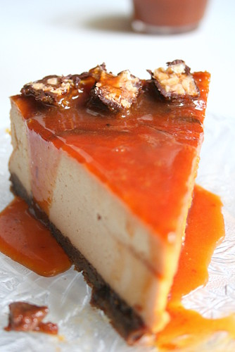 Cheesecake au Caramel et Toffee -