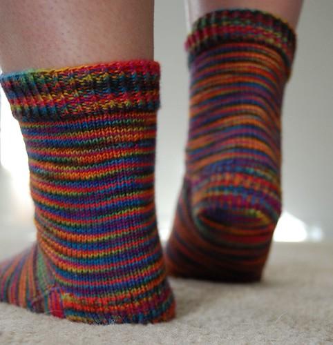 FO: rainbow socks