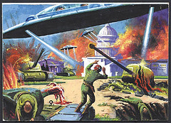 Washington in Flames (rockcreek) Tags: painting washingtondc dc paintings capitol dcist 1962 capitolhill topps marsattacks normsaunders