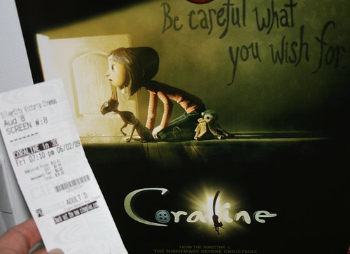 coraline_poster_and_ticket