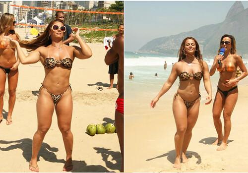 Sabrina Sato e Viviane Araújo na praia 02