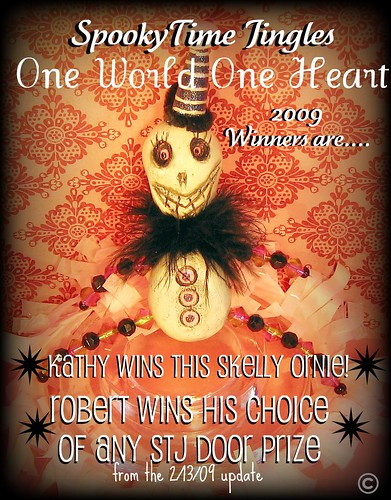 SpookyTime Jingles One World One Heart Skelly ORNAMENT 2009 giveaway