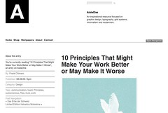 10 Principles That Might Make Your Work Better or May Make It Worse • Blog Archive • AisleOne_1234472106044