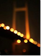 bridge bokeh (Soumya Bandyopadhyay) Tags: blur night lights bokeh outoffocus kolkata canoneosdigitalrebelxt wideopen 2ndhooglybridge sigma1770mm vidyasagarsetu aplusphoto