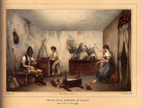020-Interior de una casa de campesinos en la isla de Tenerife