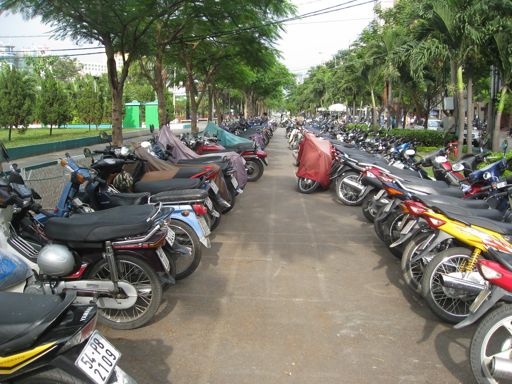 Outdoor motorbike parking by feserc, on Flickr