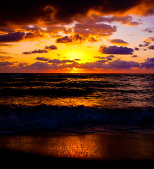 Glory of Sunrise (eyecbeauty) Tags: ocean sky sun water clouds sunrise sand waves florida shore miamibeach sobe aplusphoto theunforgettablepictures cffaa photographerswharf addictedtohighquality
