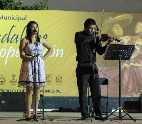 Singer at festival