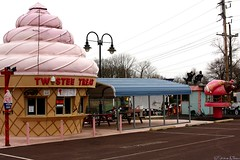 Twistee Treat (Harpo42) Tags: old silly building fun toys junk cone pennsylvania antique statues drivein collection pa novelty icecream gocart leftover collector collegeville twisteetreat daysgoneby