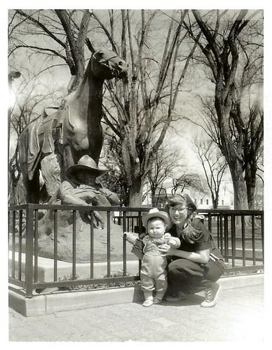 Cow-poke Arlis, Lady Rae, and the Sleeping Cowboy ~ Prescott, AZ ~ April 3rd, 2009
