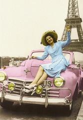 France Paris Vintage Reprint (katya.) Tags: france postcard eiffeltower