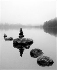 Clunie Stones (angus clyne) Tags: mist water dawn for scotland stones perthshire calm stepping zen serene steppingstones loch dunkeld tranquil surise flikcr clunie stonebalancing lochofclunie platinumphoto bestflickrphotography awardedbipg weepileofstones