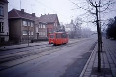Arbeitswagen , Rostock Strassenbahn, Works Car, DDR,  Jan 1990