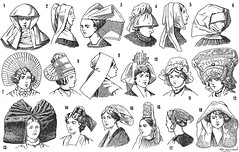 Headgear / Toucas (CGoulao) Tags: old black hat illustration ink vintage hair book design veil mask graphic helmet picture icon dessin cap cover engraving hood crown goldenage livro draw turban bonnet ilustrao velho desenho frere 1920 ancienne antigo chapu lithograph headgear gravura fillet figura gravure touca vu freira iconographie ilustrar goldenageofillustration