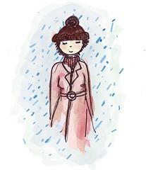 Desde la lluvia (la renata) Tags: cute rain illustration lluvia chuva autorretrato ilustracin muequita