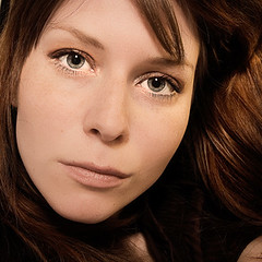 204 of 365 - Summer in the city (elsvo) Tags: summer portrait woman selfportrait colour me girl female self square redhead greeneyes 365 squarephoto 365days elsvo