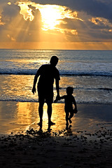 I need you dad... (Adhi Rachdian) Tags: sunset beach dad father son pantai anak ayah bapak worldbest goldstarawar