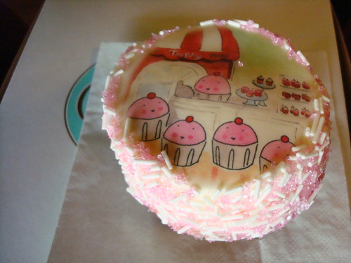 Cupcake with CakeSpy Artwork, Trophy Cupcakes