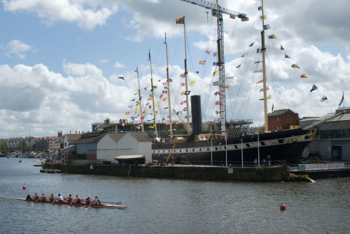 The ss Great Britain provided a stunning backdrop to the race