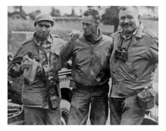 Capa and Hemingway at Portland, June 1944 (petervanallen) Tags: portrait beach portland wwii capa timelife omaha hemingway normandy dday weymouth robertcapa ernesthemingway omahabeach warphotographer landings normandylandings 6thjune