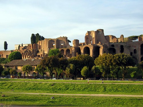 Circus Maximus at sunset.