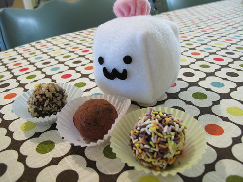 Tofu Baby makes truffles.