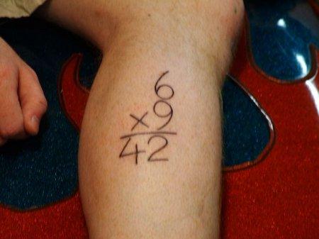 6x9=42