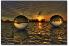 Eiskristallkugel III (PhotoArt Hartmann) Tags: sunset sun canon eos sonnenuntergang jan sigma 1020mm eis sonne hartmann hdr glaskugel kristallkugel 400d anawesomeshot zeetze zeetzersee