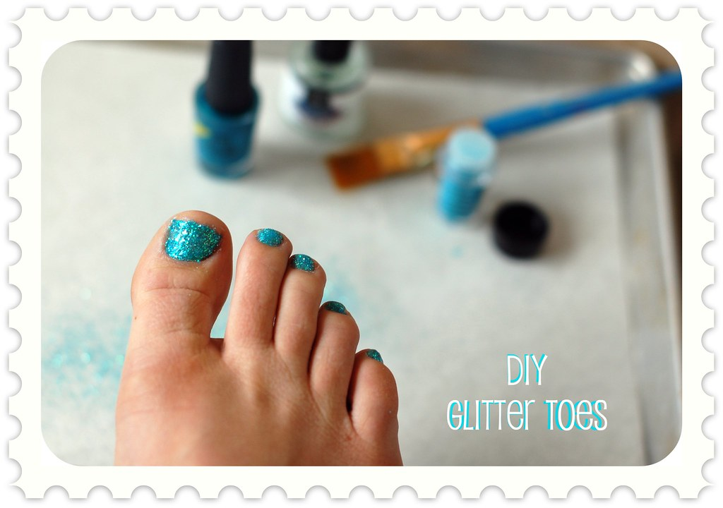 Glitter Toes Tutorial Diy Glitter Toes For Summer